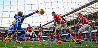 Leeds United's Kalvin Phillips scores his side's equalising goal to make the score 1-1 in the 101st minute<br /> <br /> Photographer Alex Dodd/CameraSport<br /> <br /> The EFL Sky Bet Championship - Middlesbrough v Leeds United - Saturday 9th February 2019 - Riverside Stadium - Middlesbrough<br /> <br /> World Copyright © 2019 CameraSport. All rights reserved. 43 Linden Ave. Countesthorpe. Leicester. England. LE8 5PG - Tel: +44 (0) 116 277 4147 - admin@camerasport.com - www.camerasport.com