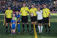 Seattle, WA - Saturday July 22, 2017: Lauren Barnes, Christie Pearce, Greg Dopka, Brooke Mayo, Andrew Deuker, Jeff Arthurholtz during a regular season National Women's Soccer League (NWSL) match between the Seattle Reign FC and Sky Blue FC at Memorial Stadium.