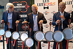 (LtoR) Carlos Lopez Puccio, Tomas Mayer Wolf and Jorge Maronna during the press conference of Les Luthiers, Viejos Hazmerreires. September 16, 2019. (ALTERPHOTOS/Johana Hernandez)