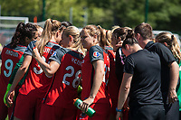 Kansas City, MO - Saturday May 13, 2017:  Portland Thorns FC  prior to a regular season National Women's Soccer League (NWSL) match between FC Kansas City and the Portland Thorns FC at Children's Mercy Victory Field.