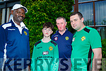 Capt of the Kennedy Cup Team 2018 Andy Rogers with the management team Joe O'Reilly (Manager), Robert Sibanda and Jimmy Clancy (Coach)