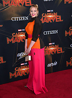 "LOS ANGELES, CA. March 04, 2019: Iskra Lawence at the world premiere of ""Captain Marvel"" at the El Capitan Theatre.<br /> Picture: Paul Smith/Featureflash"