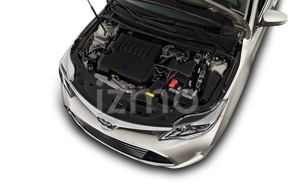 Car Stock 2018 Toyota Avalon XLE 4 Door Sedan Engine  high angle detail view