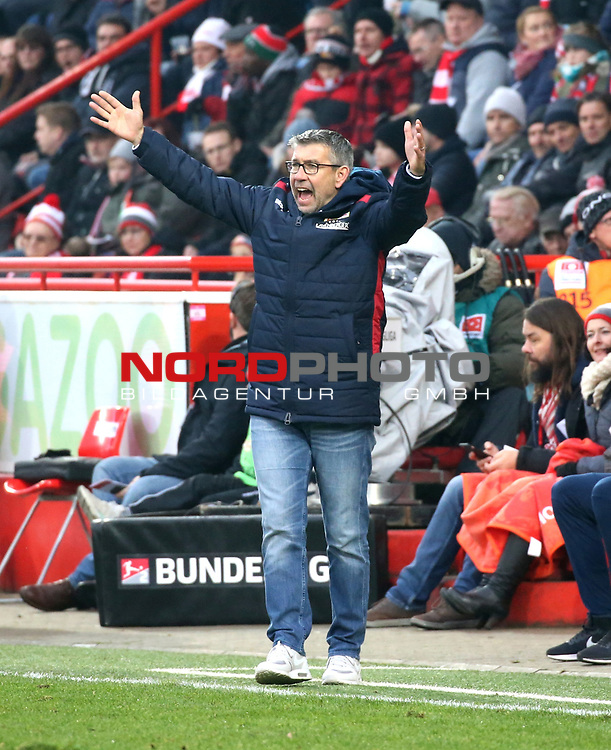 01.12.2018, Stadion an der Wuhlheide, Berlin, GER, 2.FBL, 1.FC UNION BERLIN  VS.SV Darmstadt 98, <br /> DFL  regulations prohibit any use of photographs as image sequences and/or quasi-video<br /> im Bild Cheftrainer (Head Coach) Urs Fischer(1.FC Union Berlin)<br /> <br /> <br />      <br /> Foto © nordphoto / Engler