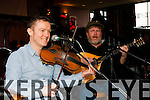 Brendan O'Sullivan left and Tim Browne better known as Cosamar have launching their new CD Where Treasures Lay in Killarney at the Gathering festival on Saturday