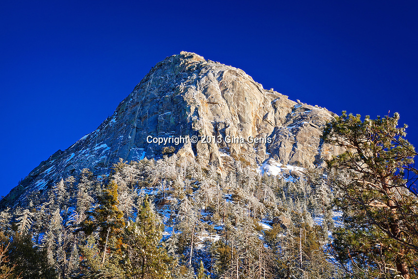 Tahquitz Rock with a little snow left from the last storm.