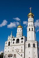 Russia, Moscow, Ivan the great Bell Tower, Cathedral Square.