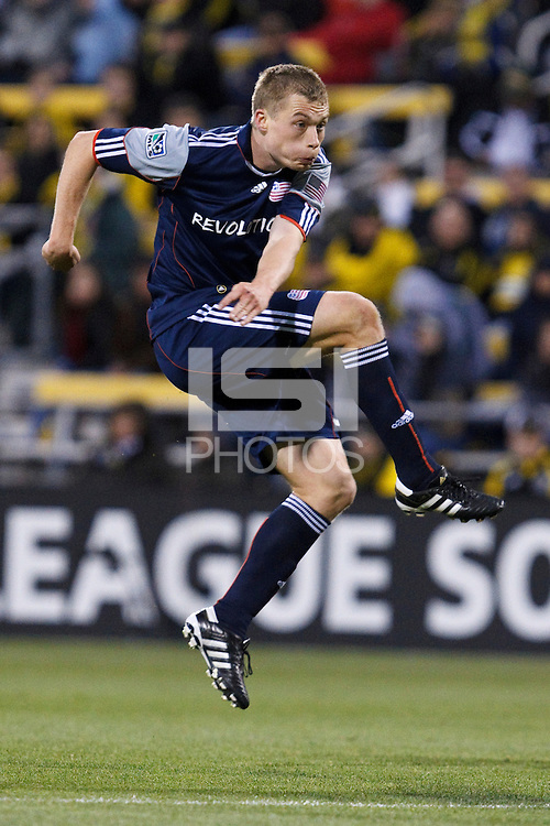 8 MAY 2010:  New England Revolutions' Zak Boggs (33) during MLS soccer game between New England Revolution vs Columbus Crew at Crew Stadium in Columbus, Ohio on May 8, 2010. The Columbus defeated New England 3-2.