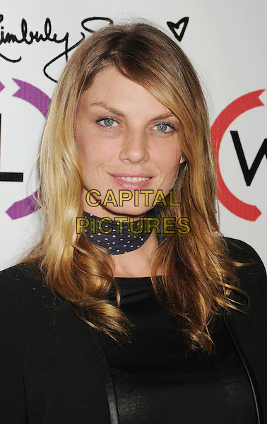 Angela Lindvall.The Opening of Kimberly Snyder's Glow Bio in West Hollywood in West Hollywood, California,.November 14th, 2012.headshot portrait black top neckerchief scarf blue polka dot .CAP/ROT/TM.©Tony Michaels/Roth Stock/Capital Pictures