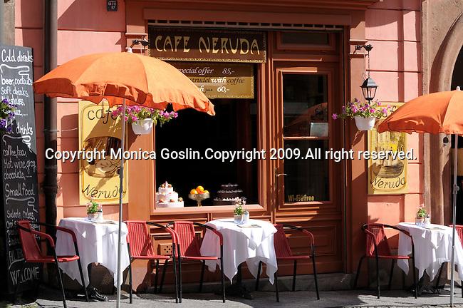A cafe in Prague, Czech Republic.