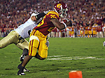 Los Angeles, CA 11/25/06 - C.J. Gable rushes for 9 yards and brings USC to the Notre Dame one yard line at the start of the second quarter<br />