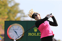 Natalie Gulbis (USA) tees off the 6th tee during Thursday's Round 1 of The Evian Championship 2018, held at the Evian Resort Golf Club, Evian-les-Bains, France. 13th September 2018.<br /> Picture: Eoin Clarke | Golffile<br /> <br /> <br /> All photos usage must carry mandatory copyright credit (© Golffile | Eoin Clarke)