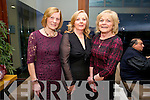 Nuala Brassil, Margaret Walsh and Kathleen Murphy, Abbeydorney enjoying the Irish Coursing Club Awards Dinner Dance at the Ballyroe Heights Hotel on Saturday