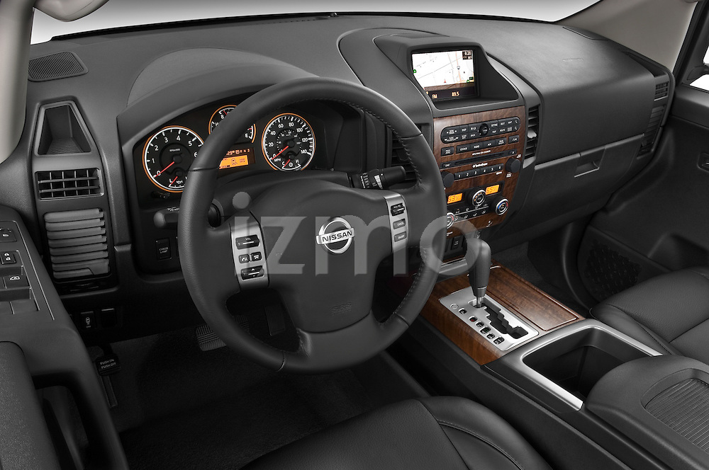 High angle dashboard view of a 2008 Nissan Titan