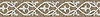"7"" Elegante border, a hand-cut mosaic shown in polished Driftwood and Calacatta by New Ravenna."