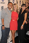 """LOS ANGELES, CA - OCTOBER 04: J.R. Martinez, Kristin Cavallari and Karina Smirnoff arrive at the launch of """"Just Dance 3"""" at The Beverly on October 4, 2011 in Los Angeles, California."""