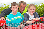 Willie O' Connor, from Kilmorna, with his two grandchildren James and Alice Conway on holidays from London, enjoyed the Vintage day in Knockanure on Sunday   Copyright Kerry's Eye 2008