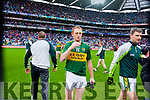 Colm Cooper, Kerry players after defeating Tyrone in the All Ireland Semi Final at Croke Park on Sunday.