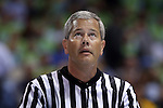 03 December 2014: Referee Tim Nestor. The University of North Carolina Tar Heels played the University of Iowa Hawkeyes in an NCAA Division I Men's basketball game at the Dean E. Smith Center in Chapel Hill, North Carolina. Iowa won the game 60-55.