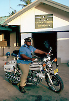 Central Police Station and Central Prison in Nauru, South Pacific.