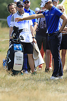 Thomas Detry (BEL) and caddy Ryan in the rough on the 18th hole during Saturday's Round 3 of the Porsche European Open 2018 held at Green Eagle Golf Courses, Hamburg Germany. 28th July 2018.<br /> Picture: Eoin Clarke | Golffile<br /> <br /> <br /> All photos usage must carry mandatory copyright credit (&copy; Golffile | Eoin Clarke)