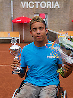 August 6, 2014, Netherlands, Rotterdam, TV Victoria, Tennis, National Junior Championships, NJK,  Wheelchair, Winner Carlos Anker<br /> Photo: Tennisimages/Henk Koster