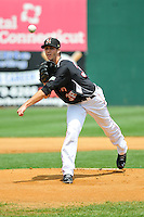 Taylor Rogers (38) of the New Britain Rock Cats delivers a pitch during a game against the Altoona Curve at New Britain Stadium on June 25, 2014 in New Britain, Connecticut.  New Britain defeated Altoona 3-1.  (Gregory Vasil/Four Seam Images)