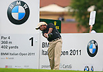 S.S.P. Chowrasia (IND) tees off on the 1st tee off during Day 2 of the BMW Italian Open at Royal Park I Roveri, Turin, Italy, 10th June 2011 (Photo Eoin Clarke/Golffile 2011)