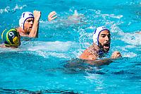 9 MARZOUKI Mehdi FRA <br /> FRA (white cap) -  AUS (blue cap)<br /> Preliminary Round Water Polo Women<br /> Day06  19/07/2017 <br /> XVII FINA World Championships Aquatics<br /> Alfred Hajos Complex Margaret Island  <br /> Budapest Hungary <br /> Photo @ Deepbluemedia/Insidefoto