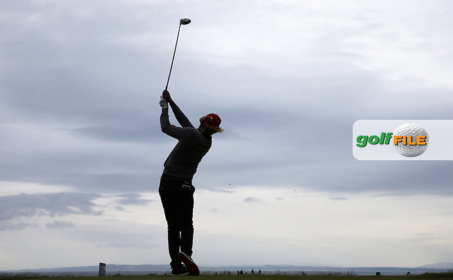 Johan Carlsson (SWE)  drives down the 14th during Round Three of the 2015 Aberdeen Asset Management Scottish Open, played at Gullane Golf Club, Gullane, East Lothian, Scotland. /11/07/2015/. Picture: Golffile | David Lloyd<br /> <br /> All photos usage must carry mandatory copyright credit (&copy; Golffile | David Lloyd)