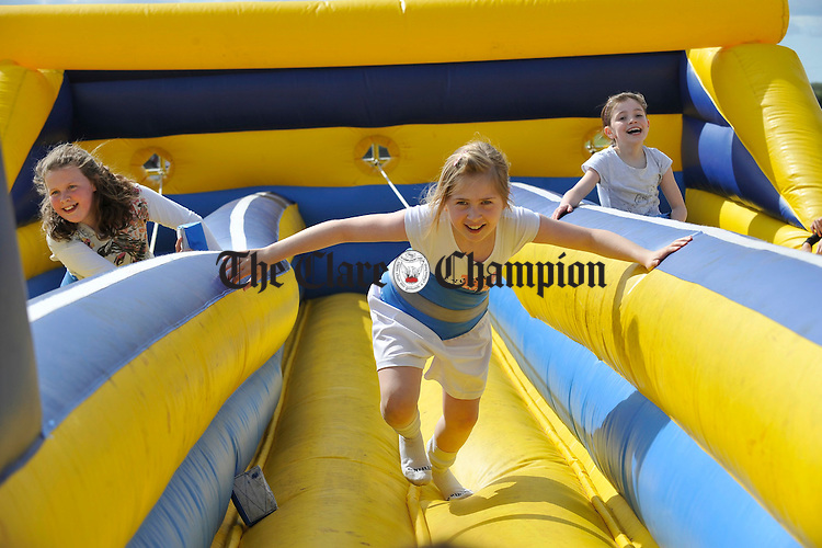 Emily Williams having fun on the bouncy castle during the St Joseph's GAA 125th anniversary celebrations at Gurteen. Photograph by John Kelly.