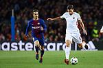 UEFA Champions League 2017/2018.<br /> Quarter-finals 1st leg.<br /> FC Barcelona vs AS Roma: 4-1.<br /> Denis Suarez vs Kevin Strootman.