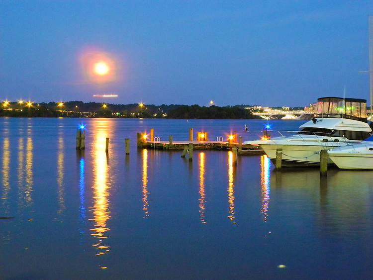 Old Town Alexandria Virginia Waterfront at Sunset. Landscape Photography by Photography Image Photography.