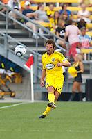 26 JUNE 2010:  Adam Moffat of the Columbus Crew (22) during MLS soccer game between DC United vs Columbus Crew at Crew Stadium in Columbus, Ohio on May 29, 2010. The Crew defeated DC United 2-0.
