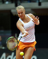 Arena Loire,  Trélazé,  France, 16 April, 2016, Semifinal FedCup, France-Netherlands, Kiki Bertens (NED)<br /> Photo: Henk Koster/Tennisimages