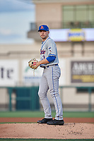St. Lucie Mets starting pitcher Tommy Wilson (3) during a Florida State League game against the Lakeland Flying Tigers on April 24, 2019 at Publix Field at Joker Marchant Stadium in Lakeland, Florida.  Lakeland defeated St. Lucie 10-4.  (Mike Janes/Four Seam Images)