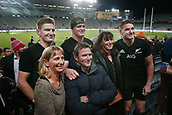 16th June 2017, Eden Park, Auckland, New Zealand; International Rugby Pasifika Challenge; New Zealand versus Samoa;  Brothers Jordie, Scott and Beauden Barrett of New Zealand pose for a photo with their siblings after the match