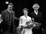Dan Stevens, Jessica Chastain & David Straitharin during the Broadway Opening Night Performance Curtain Call for 'The Heiress' at The Walter Kerr Theatre on 11/01/2012 in New York.