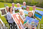 Aileen Callaghan (President Failte PROBUS), Phil Hussey, Hazel Costelloe, Mike Ryle, Eileen Cantillon, Eileen O'Keeffe, Mike Griffin, Carmel O'Sullivan and Mark Sullivan (Manager Ballyroe Hotel), launching their sixth annual Art Exhibition which takes place in Kerry County Library from Saturday May 12th to May 31st.
