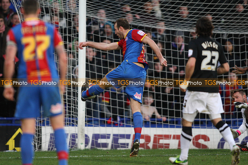 Glenn Murray of Crystal Palace scores the winning goal and celebrates - Crystal Palace vs Charlton Athletic - NPower Championship Football at Selhurst Park - 02/02/13 - MANDATORY CREDIT: George Phillipou/TGSPHOTO - Self billing applies where appropriate - 0845 094 6026 - contact@tgsphoto.co.uk - NO UNPAID USE.