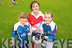 St Pats Blennerville GAA Cul Camp on Friday. Pictured l-r: Julie Foley, Casey-Anne O'Donnell and Laura Devane.