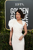Host Sandra Oh attends the 76th Annual Golden Globe Awards at the Beverly Hilton in Beverly Hills, CA on Sunday, January 6, 2019.<br /> *Editorial Use Only*<br /> CAP/PLF/HFPA<br /> Image supplied by Capital Pictures
