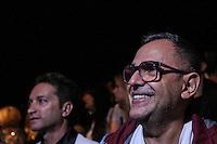 SAO PAULO, SP, 04.04.2014 - SPFW / VERAO 2015 / WAGNER KALLIENO - O organizador da Sao Paulo Fashion Week Paulo Borges assiste ao desfile da grife Wagner Kallieno no São Paulo Fashion Week, Verão 2015 no Parque Candido Portinari regiao oeste de Sao Paulo nesta sexta-feira, 04.(Foto: Vanessa Carvalho / Brazil Photo Press).