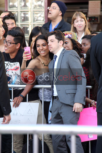 Christopher Mintz-Plasse and fan<br />