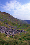 High Cup Nick is a classic example of a U shaped glacial valley, near Dufton, Cumbria, England