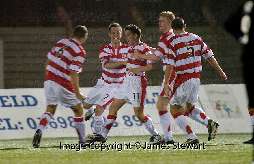 17/10/2006       Copyright Pic: James Stewart.File Name :sct_jspa07_hamilton_v_clyde.MARK GILHANEY CELEBRATES SCORING THE THIRD....Payments to :.James Stewart Photo Agency 19 Carronlea Drive, Falkirk. FK2 8DN      Vat Reg No. 607 6932 25.Office     : +44 (0)1324 570906     .Mobile   : +44 (0)7721 416997.Fax         : +44 (0)1324 570906.E-mail  :  jim@jspa.co.uk.If you require further information then contact Jim Stewart on any of the numbers above.........