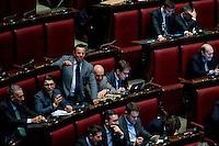 Roma, 6 Febbraio 2014<br /> Camera dei Deputati - Voto sul decreto legge 'Svuota carceri'<br /> Gianluca Buonanno  deputato della Lega Nord grida in aula