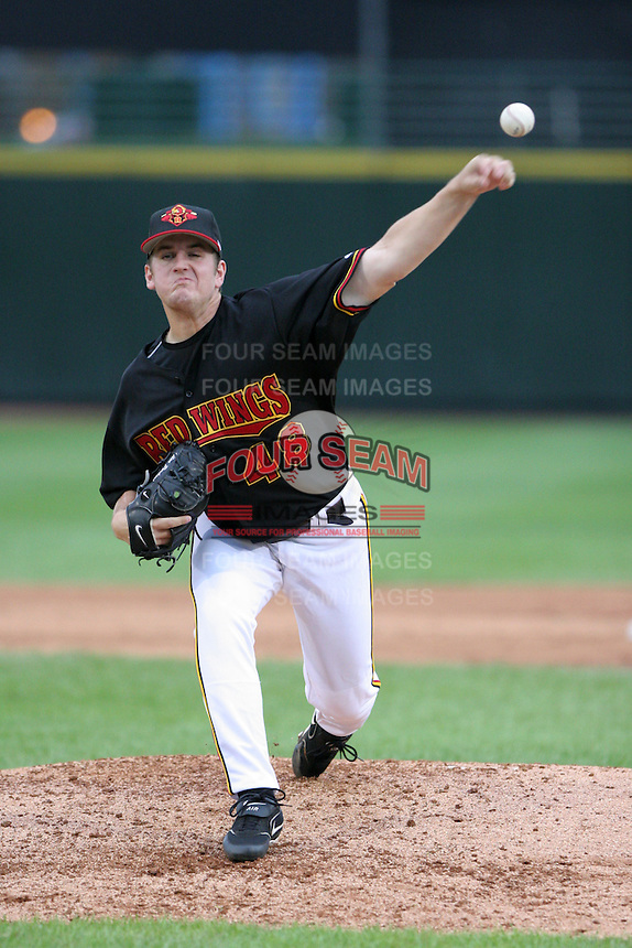 Rochester Red Wings Glen Perkins during an International League game at Frontier Field on September 3, 2006 in Rochester, New York.  (Mike Janes/Four Seam Images)