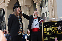 LOS ANGELES, CA. August 27, 2018: Weird Al Yankovic & Dr. Demento at the Hollywood Walk of Fame Star Ceremony honoring 'Weird Al' Yankovic.