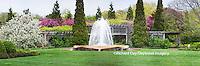 63821-22602 Peace Garden and fountain in spring, Chicago Botanic Garden, Glencoe, IL